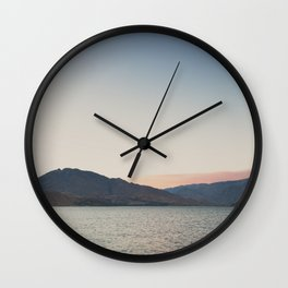 sunset over the lake ... Wall Clock
