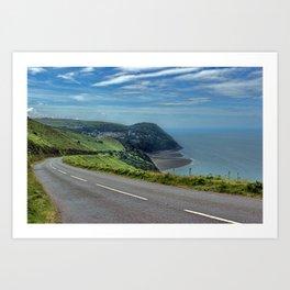 Lynmouth Bay, Devon, England Art Print