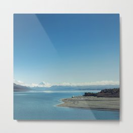 Blue & snowy landscape Metal Print