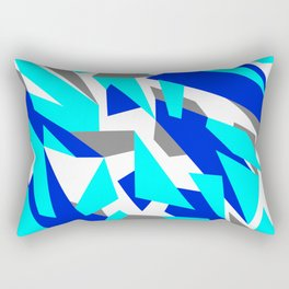 Digital Snow Camouflage Rectangular Pillow