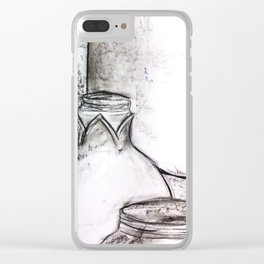 Still Life: Bottles Clear iPhone Case