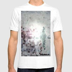 Hex Dust 3 MEDIUM White Mens Fitted Tee