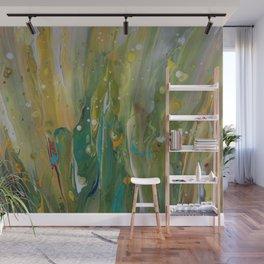 Fluid Nature - Windswept Cornfield - Abstract Acrylic Art Wall Mural
