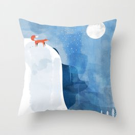 Fox In Nowhere Land Throw Pillow