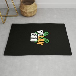 Lacrosse Player Gifts Relax Bro Novelty Item Lacrosse Gifts Rug