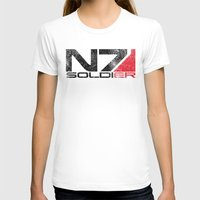 n7 T-shirts featuring Alt Soldier by Draygin82