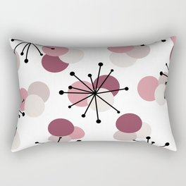 Atomic Age Molecules Starbursts Pink Rectangular Pillow