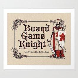 Board Game Knight Art Print