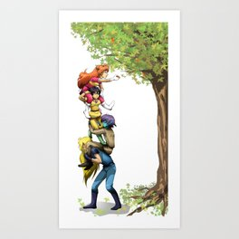 Teamwork... Sort of Art Print