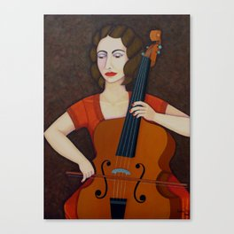 Guilhermina Suggia - Woman cellist of fire Canvas Print