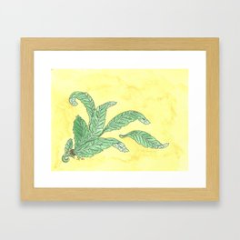 Acanthus Leaves Framed Art Print