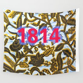 1814 blue Wall Tapestry