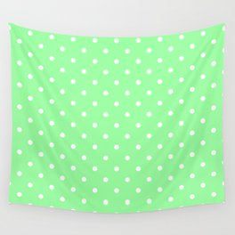 White Dots on Chrysoprase Wall Tapestry