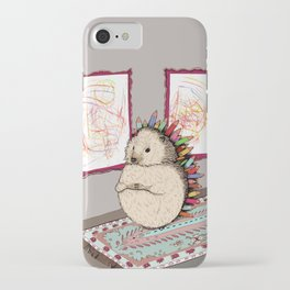 Hedgehog Artist iPhone Case