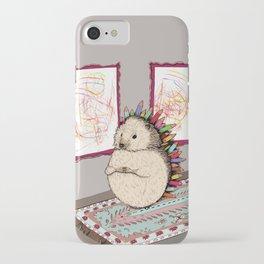 Hedgehog Artist iPhone Case