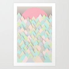 Forest Pastel Art Print