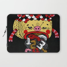 How much Time do we have left (CLOCK) Laptop Sleeve