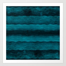 Vintage Blau Art Print