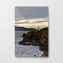 Golden Gate From Baths Metal Print