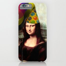 Mona Lisa Birthday Girl iPhone Case