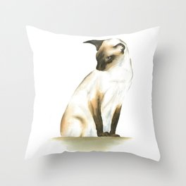 seal point siamese cat 1 Throw Pillow