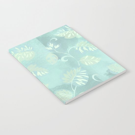 soft foliage in blue Notebook