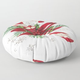 Vintage Merry Christmas Candy Cane Floor Pillow
