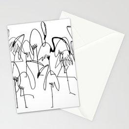 handrawn flamingo Stationery Cards