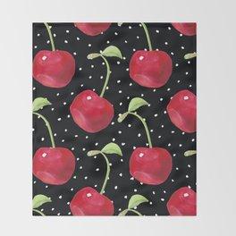 Cherry pattern III Throw Blanket