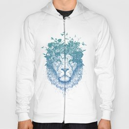 Floral lion Hoody