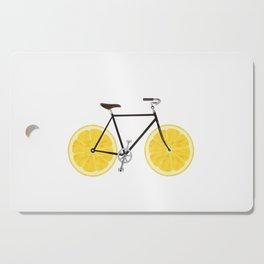 Lemon Bike Cutting Board