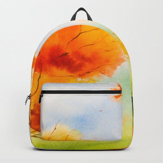 Autumn scenery #14 Backpack