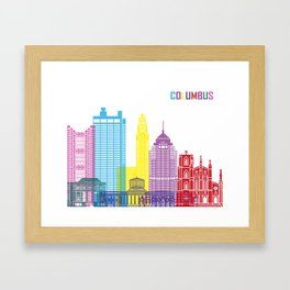 Columbus skyline pop Framed Art Print