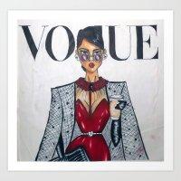 vogue Art Prints featuring vogue  by LUSHELLE