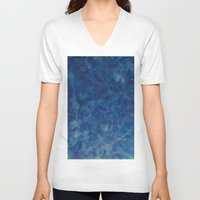 blues V-neck T-shirts featuring BLUES by Dash of noir