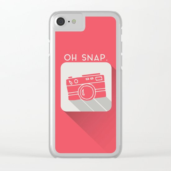 Oh, Snap. Clear iPhone Case