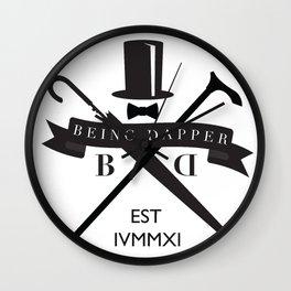 Being Dapper Crest  Wall Clock