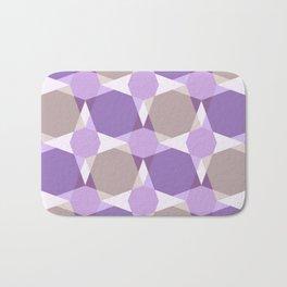Kaleidoscope  Purple Brown Bath Mat