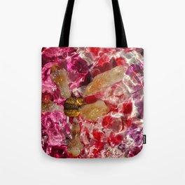 Pink petal citrine star Tote Bag