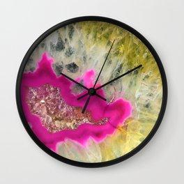 HOT PINK Crystals Wall Clock