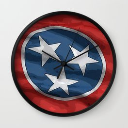Tennessee Fancy Flag Wall Clock