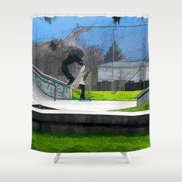 Skateboarding Fool Shower Curtain
