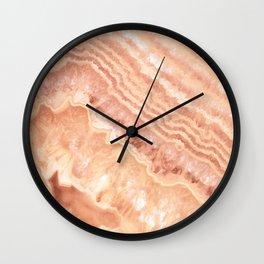 Champagne onyx marble Wall Clock