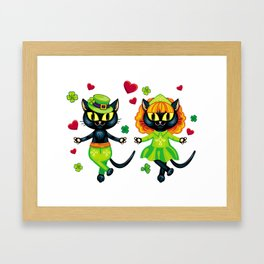 Irish dancing cats Framed Art Print