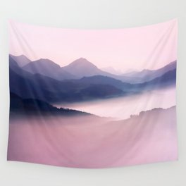 Foggy Mountains II Wall Tapestry