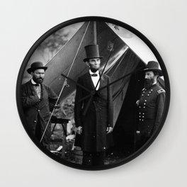 Antietam, Md. Allan Pinkerton, President Lincoln, and Maj. Gen. John A. McClernand Wall Clock