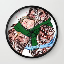Love You Owlways Wall Clock