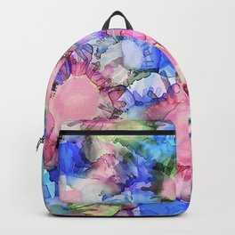 Alcohol Ink Flower Pattern Backpack