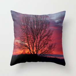 Autumn Sunrise At Chasewater Throw Pillow