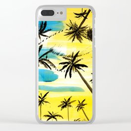 Under the palm trees Clear iPhone Case